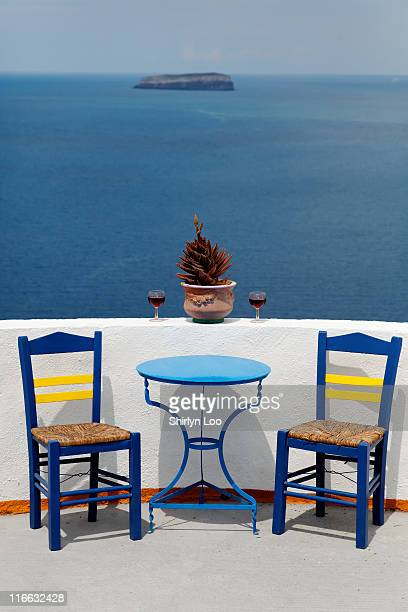Set and relax at Akrotiri, Santorini