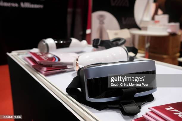 VR set at the Asia Adult Expo 2017 at Hong Kong Convention and Exhibition Centre in Wan Chai Hong Kong 30AUG17 [FEATURES] SCMP / James Wendlinger