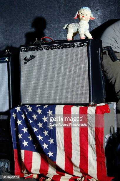 Set decorations are seen onstage as Starcrawler performs at the Music Opening Party during SXSW at The Main on March 13 2018 in Austin Texas