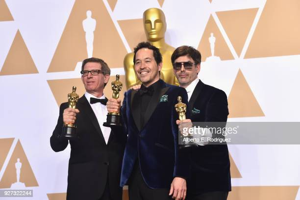 Set decorator Jeffrey A Melvin production designer Paul Denham Austerberry and set decorator Shane Vieau winners of the Best Production Design award...