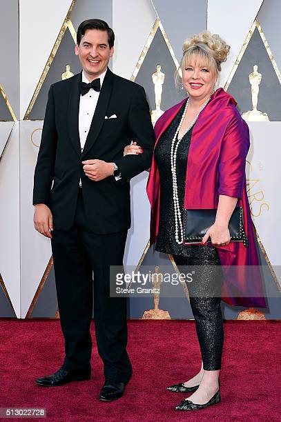 Set decorator Lisa Thompson and guest attend the 88th Annual Academy Awards at Hollywood Highland Center on February 28 2016 in Hollywood California