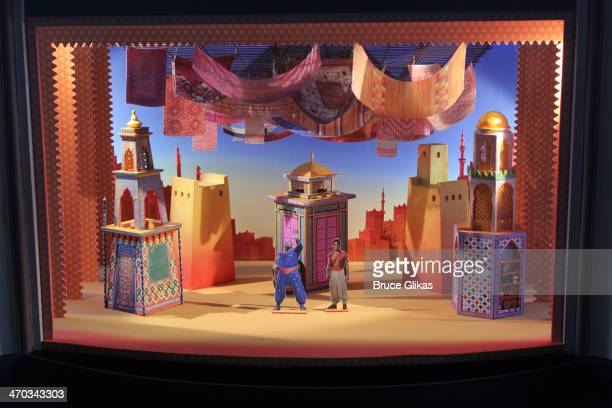 Set Design at the 'Aladdin' Broadway cast and creative team press preview at Mandarin Oriental Hotel on February 18 2014 in New York City