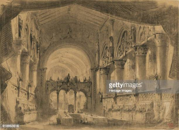 Set design for opera Macbeth by Giuseppe Verdi Paris ThéâtreLyrique 21041865 1865 Found in the collection of Bibliothèque Nationale de France