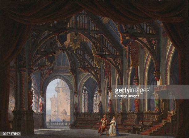 Set design for Opera Tannhäuser by Richard Wagner Paris Théâtre de l'OpéraLe Peletier 13031861 1861 Found in the Collection of Bibliothèque Nationale...