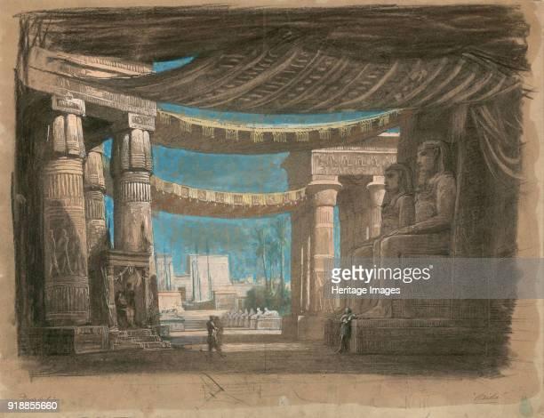 Set design for the Opera Aida by Giuseppe Verdi Théâtre de l'Opéra Cairo 24121871 1871 Private Collection