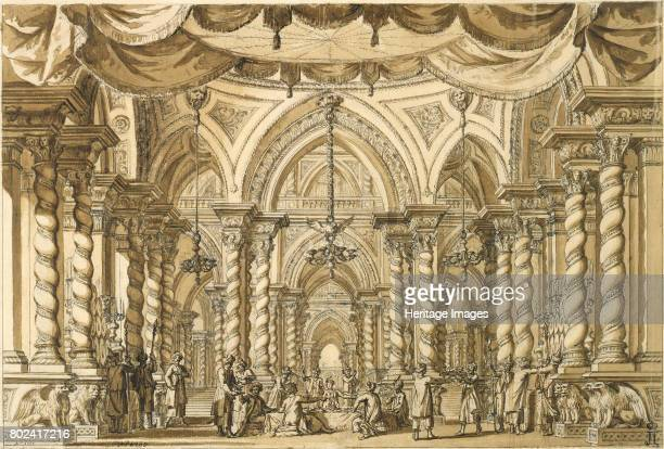 Set design for the Opera BellÈrophon by JeanBaptiste Lully 18th century Found in the collection of State Hermitage St Petersburg