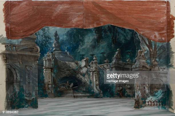 Set design for the Opera Don Carlos by Giuseppe Verdi Paris Théâtre de l'OpéraLe Peletier 11031867 1867 Found in the collection of Bibliothèque...