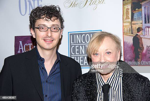 Set Designer Beowulf Boritt and Costume Designer Jane Greenwood attends the opening night party for Act One at The Plaza Hotel on April 17 2014 in...