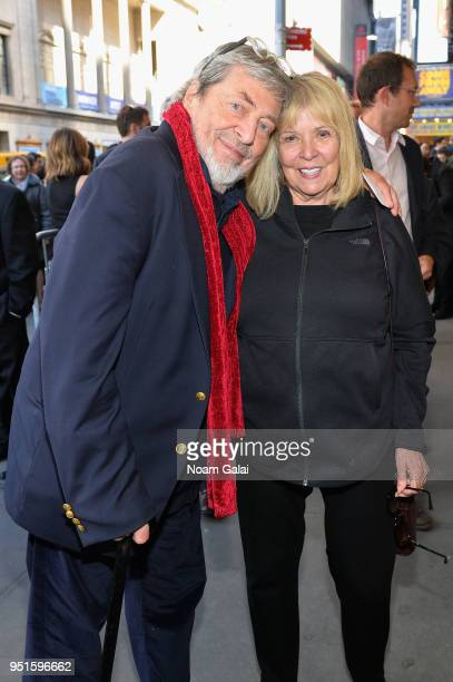 Set designer Tony Walton and playwright Gen Walton attend 'The Iceman Cometh' opening night on Broadway on April 26 2018 in New York City