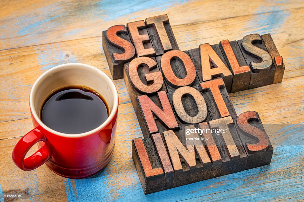 Set goals, not limits : Stock Photo