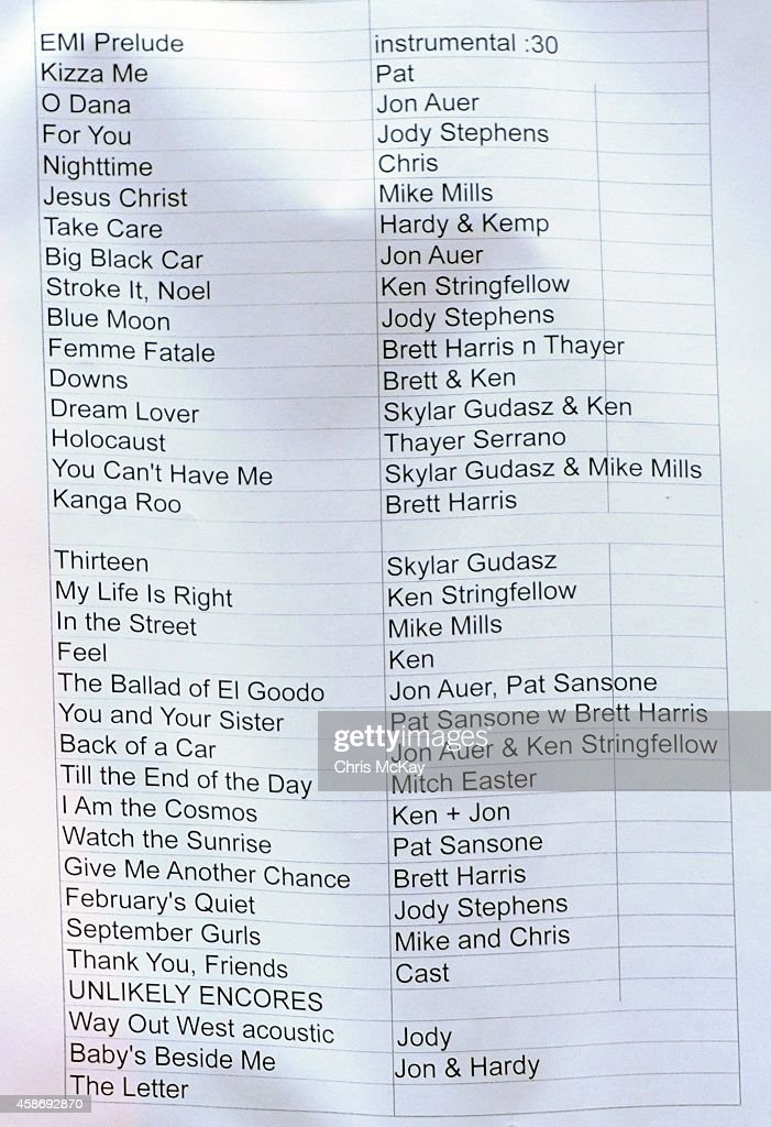 Set list is displayed during the Big Star Third show  This