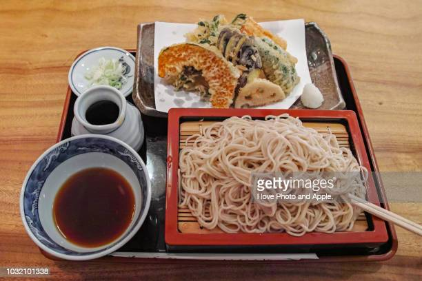 set meal soba lunch - soba stock pictures, royalty-free photos & images