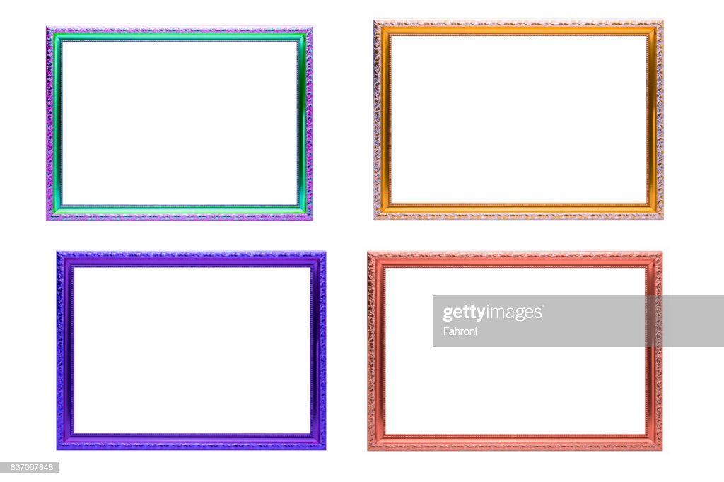 16bf211e23b4 Set Of Colorful Frames Vintage Style Isolated On White Background ...