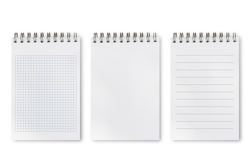 Set of difference types of notepad 1010448440