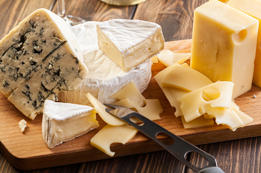 Set of different cheeses 898191120