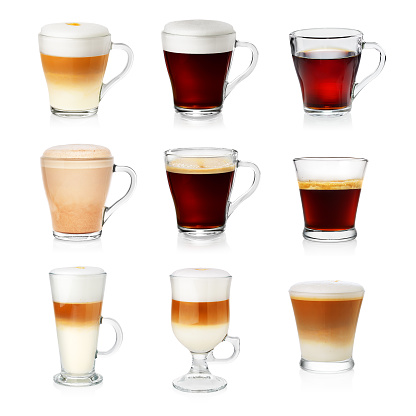 Set of different types of coffee 1066668070
