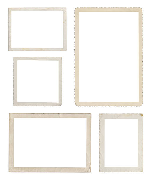 set of different wood frames in white background - 攝影 個照片及圖片檔