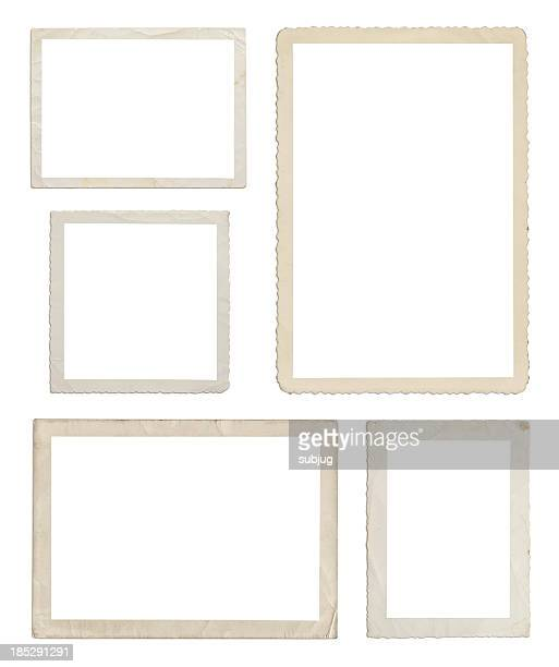 set of different wood frames in white background - foto stockfoto's en -beelden
