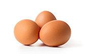 set of egg isolated