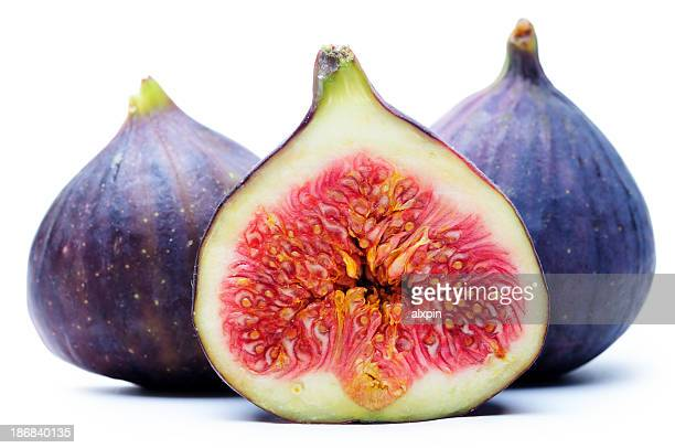 A set of figs one has been sliced