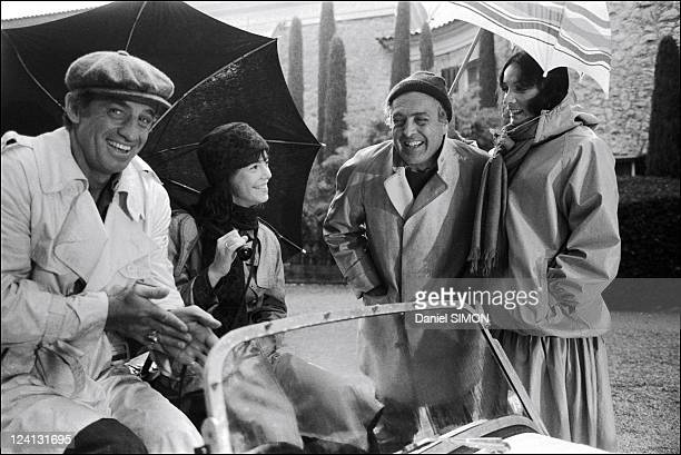 Set of Flic ou voyou by Georges Lautner In France On December 11 1978 JeanPaul Belmondo Julie Jezequel Georges Lautner Marie Laforet