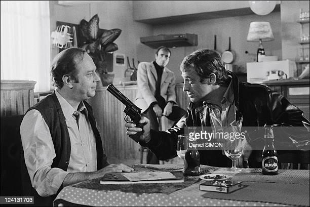 Set of Flic ou voyou by Georges Lautner In France On December 11 1978 JeanPaul Belmondo Michel Beaune