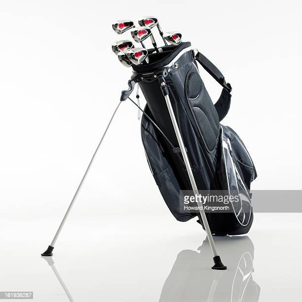 set of golf clubs in a bag
