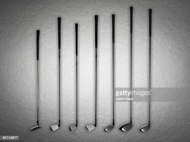 set of golf clubs - putting stock pictures, royalty-free photos & images