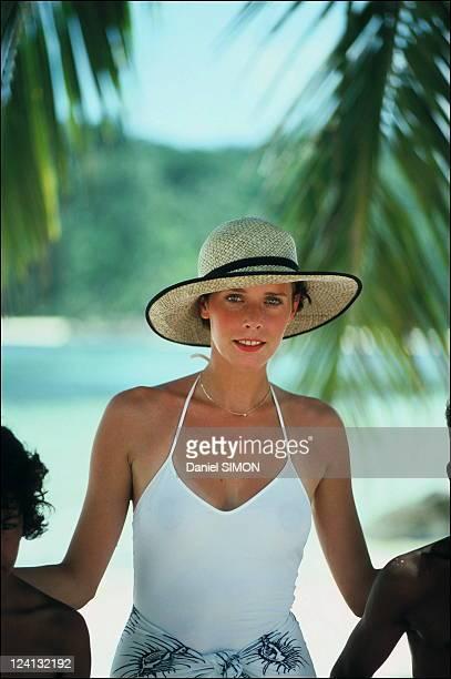 Set of 'Good bye Emmanuelle' with Silvia Kristel In Seychelles In April 1977