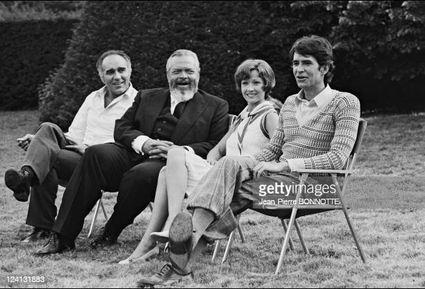 Set of 'La decade prodigieuse' by Claude Chabrol In France In 1971 Anthony Perkins Orson Welles Marlene Jobert Michel Piccoli