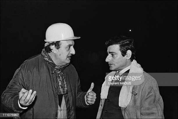 Set of Les gaspard by Pierre Tchernia in France in 1973 Pierre Tchernia and Charles Denner