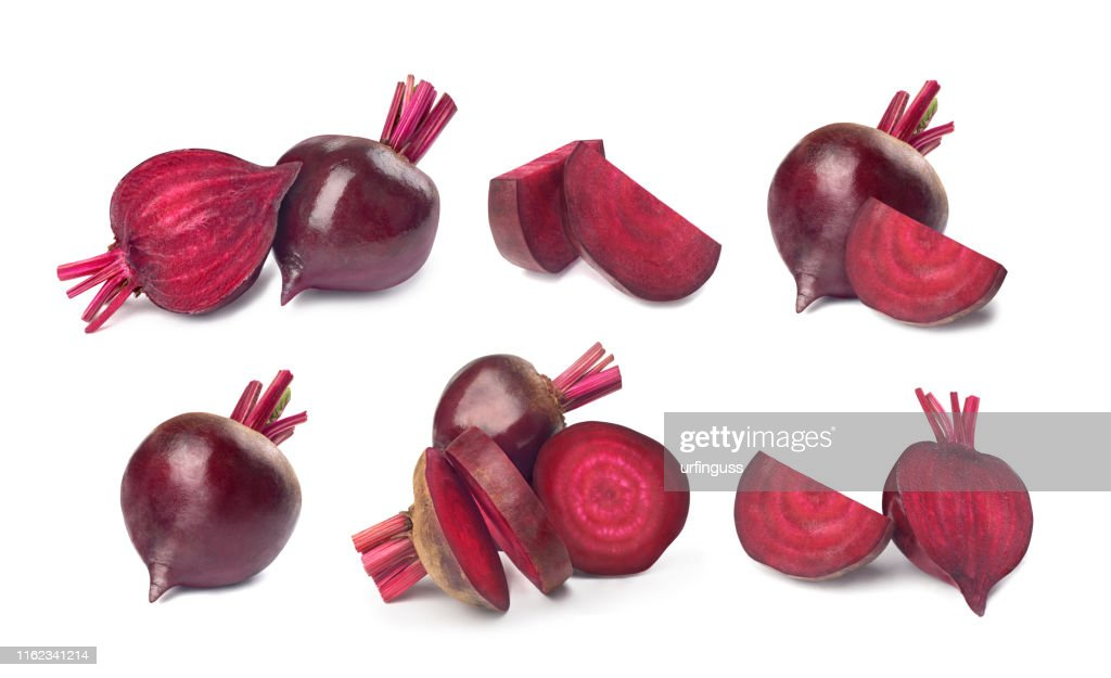 set of red beet on a white background : Stock Photo