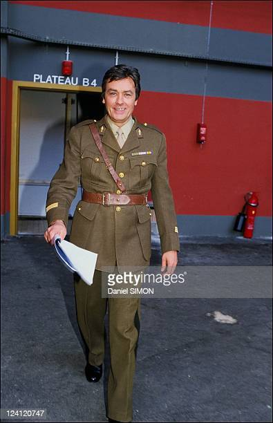 Set of the mini serie 'Cinema' In France In February 1988 Alain Delon