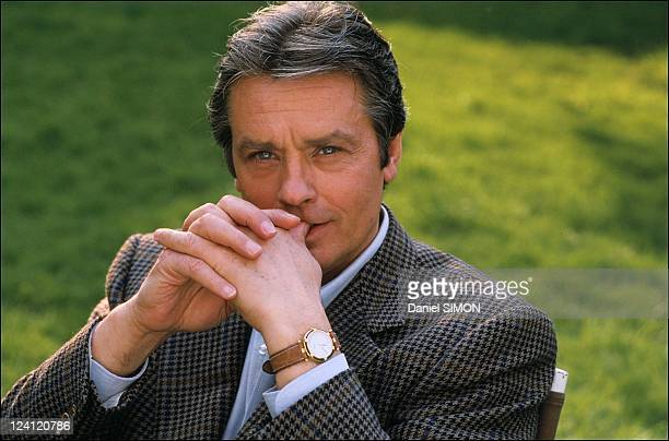 "Set of the minie serie ""Cinema"" with Alain Delon in France in March 1988."