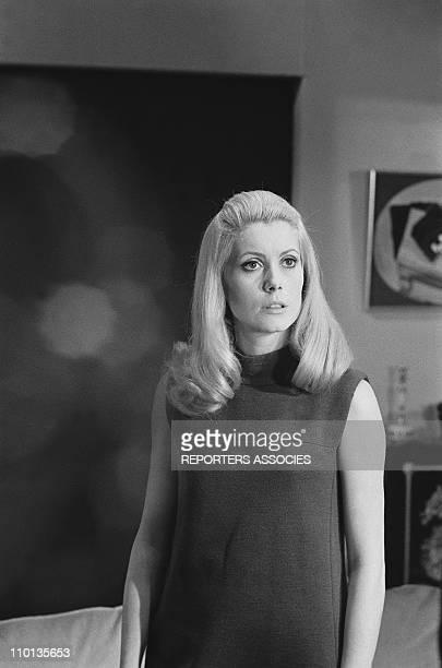 Set of the movie 'Belle de jour' with Catherine Deneuve on November 10th,1966.