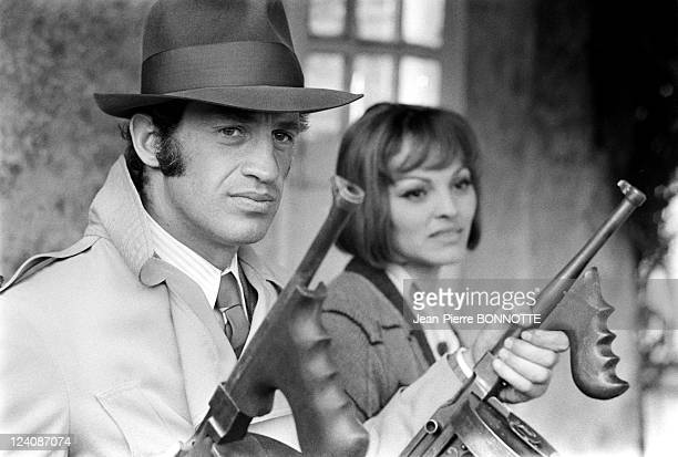 Set of the Movie Borsalino In Paris France In September 1969 French actor JeanPaul Belmondo and actress Catherine Rouvel on the set of gangster movie...