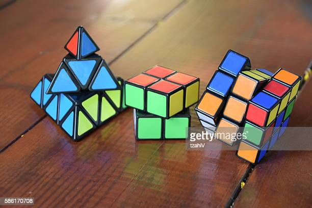 set of Three Rubiks Cube