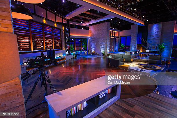 Set of TV host/comedian Chelsea Handler talk show 'Chelsea' is photographed for USA Today on May 2, 2016 in Culver City, California.