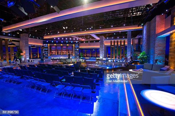 Set of TV host/comedian Chelsea Handler talk show 'Chelsea' is photographed for USA Today on May 2 2016 in Culver City California