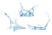 Set of water splashes collection