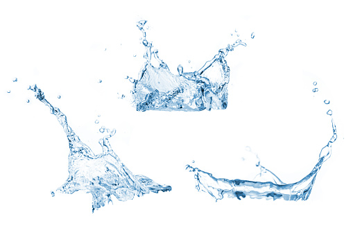 Set of water splashes collection 1065347802