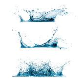 Set of Water Splashes