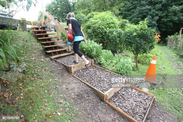 A set of wooden stairs built by a Toronto senior for $550 to Tom Riley Park have been removed by city workers early Friday morning after officials...