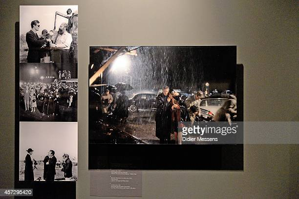 Set pictures of the movie La Dolce Vita are shown as part of the Fellini Exhibition at Caermersklooster on October 15 2014 in Ghent Belgium