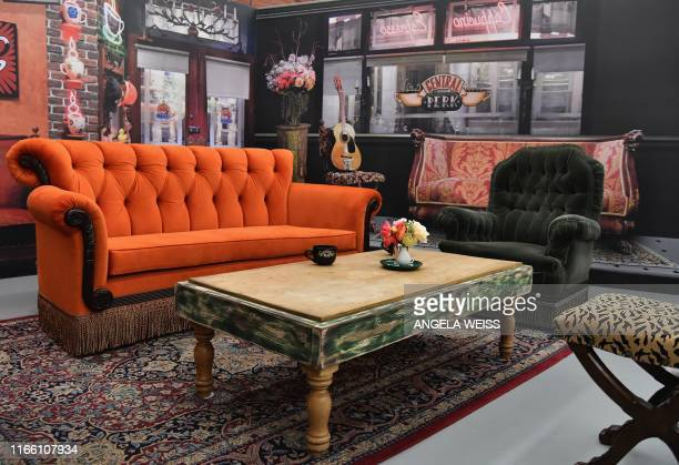 A set scene is on display at the Friends 25th Anniversary New York City PopUp press preview on September 05 2019 in New York