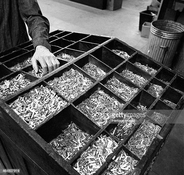 Set type broken up after use the White Rose Press Mexborough South Yorkshire 1968 Set type was broken up after use and separated out into specific...
