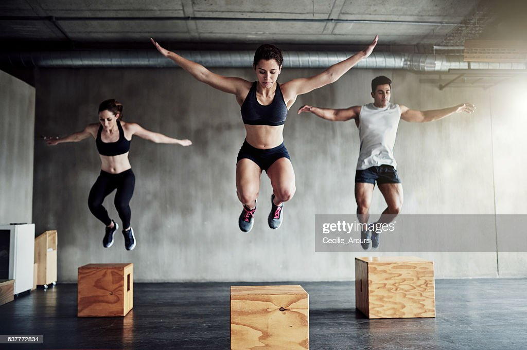 Set your fitness goals high and reach them : Stock Photo