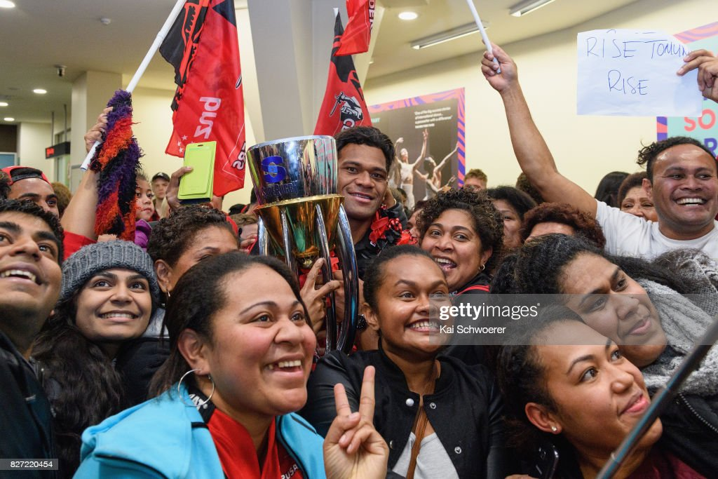 Crusaders Arrive Home After Winning Super Rugby Final