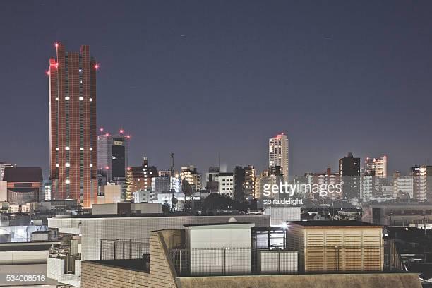 Setagaya ward aerial view at Night