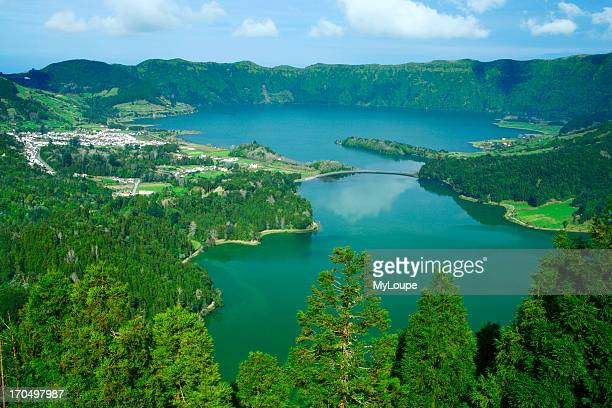 Sete Cidades Crater And The Twin Lakes Azores Portugal